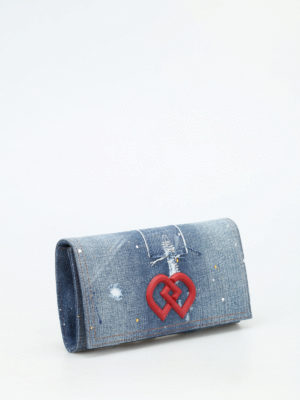 Dsquared2: clutches online - DD denim clutch