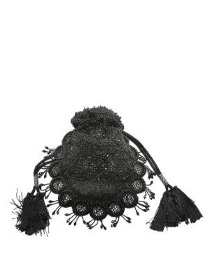 Dsquared2: clutches online - Victorian embroidered pouch