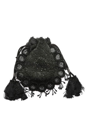 Dsquared2: clutches - Victorian embroidered pouch