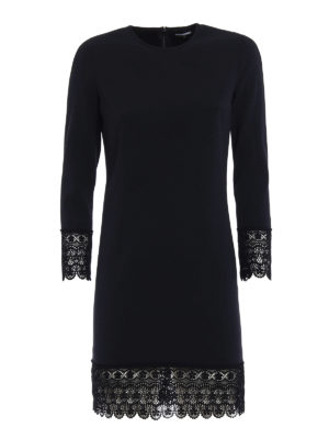Dsquared2: cocktail dresses - Macramé trimmed cady dress