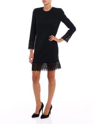 Dsquared2: cocktail dresses online - Macramé trimmed cady dress