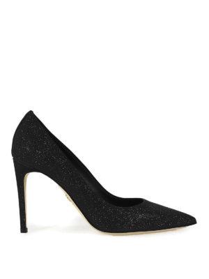 DSQUARED2: scarpe décolleté - Décolleté Basic a punta glitterate