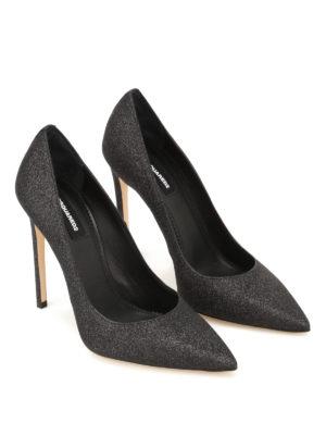 Dsquared2: court shoes online - Basic black glitter pumps