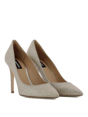Dsquared2: court shoes online - Basic powder glitter pumps