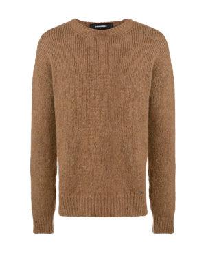 DSQUARED2: maglia collo rotondo - Maglione in alpaca marrone