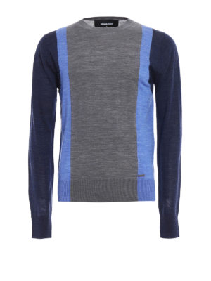 Dsquared2: crew necks - Colour block wool sweater
