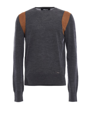 Dsquared2: crew necks - Contrasting armhole wool sweater