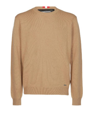 DSQUARED2: maglia collo rotondo - Maglione in lana e cashmere con ricamo
