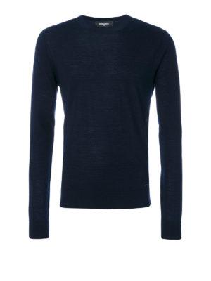 DSQUARED2: maglia collo rotondo - Girocollo in leggerissima lana