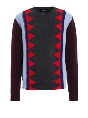 Dsquared2: crew necks - Multicolour wool blend crewneck