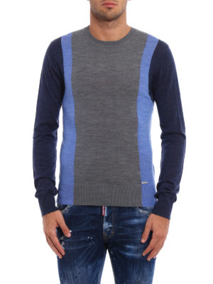 Dsquared2: crew necks online - Colour block wool sweater