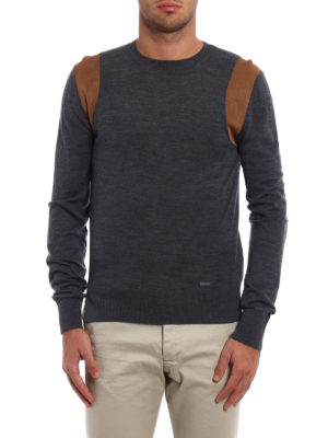 Dsquared2: crew necks online - Contrasting armhole wool sweater