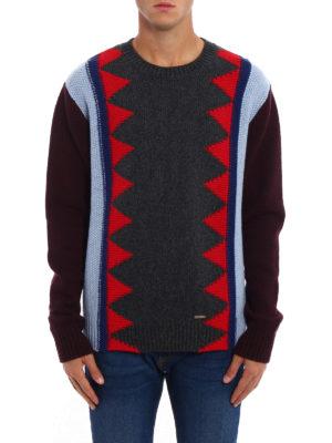 Dsquared2: crew necks online - Multicolour wool blend crewneck