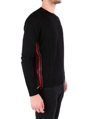 Dsquared2: crew necks online - Side zip wool crewneck