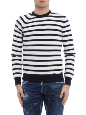 Dsquared2: crew necks online - Striped wool sweater