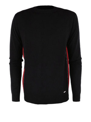 Dsquared2: crew necks - Side zip wool crewneck