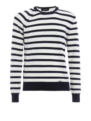 Dsquared2: crew necks - Striped wool sweater