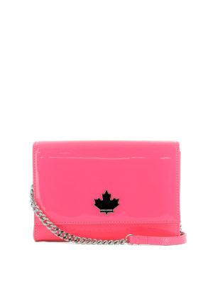 DSQUARED2: borse a tracolla - Tracollina 50's Rock Disco rosa