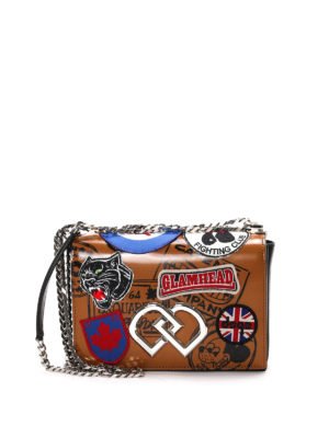 Dsquared2: cross body bags - DD patches shoulder bag