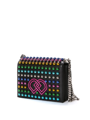 Dsquared2: cross body bags online - DD medium bag with coloured studs