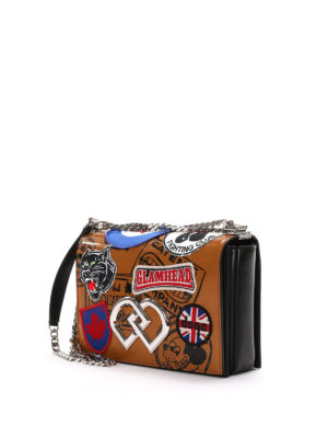 Dsquared2: cross body bags online - DD patches shoulder bag