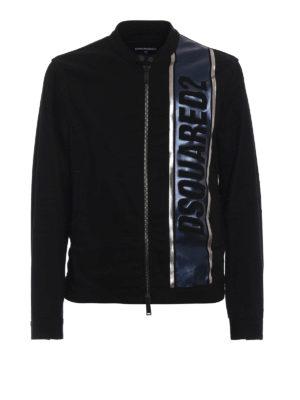 DSQUARED2: giacche denim - Giacca in denim con banda logo laminata