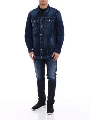 Dsquared2: denim jacket online - Be Cool Be Nice denim jacket