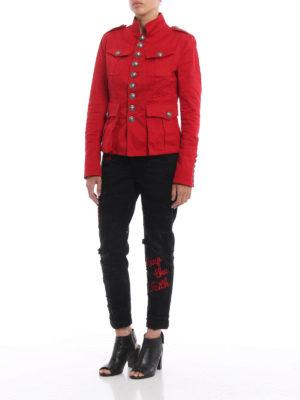Dsquared2: denim jacket online - Denim livery jacket