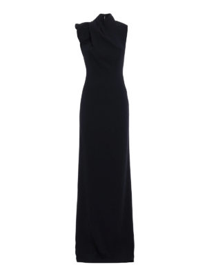 Dsquared2: evening dresses - Backless crepe cady gown