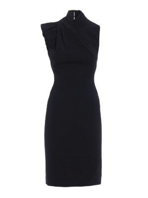 Dsquared2: evening dresses - Backless crepe cady sheath dress