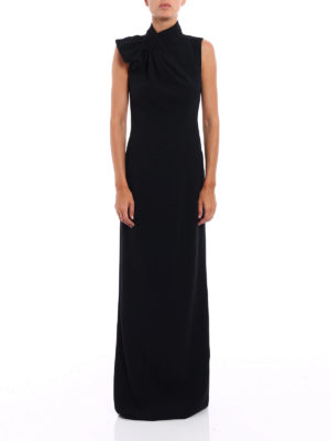 Dsquared2: evening dresses online - Backless crepe cady gown