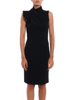 Dsquared2: evening dresses online - Backless crepe cady sheath dress