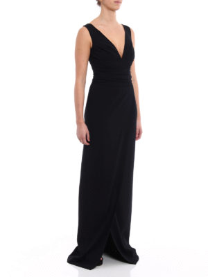 Dsquared2: evening dresses online - Charlotte stretch wool cady gown