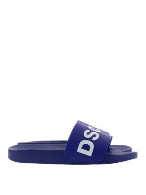 Dsquared2: flip flops - Logo flip flops