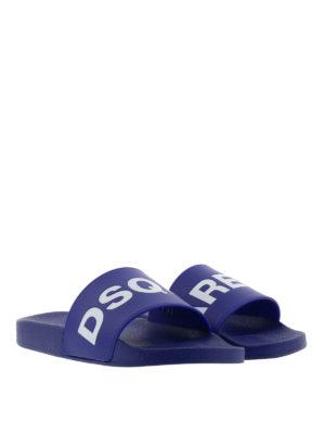Dsquared2: flip flops online - Logo flip flops