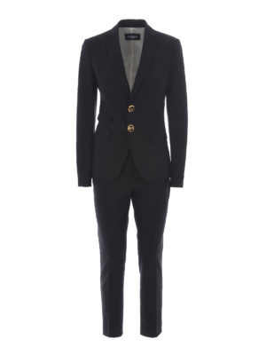 Dsquared2: formal suits - Black stretch wool formal suit
