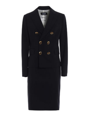 Dsquared2: formal suits - Double-breasted skirt suit