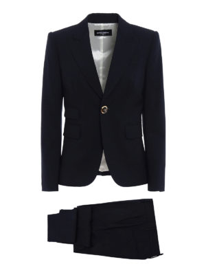 Dsquared2: formal suits - One button cool wool pant suit