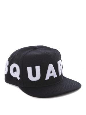 Dsquared2: hats & caps - D2 black baseball cap