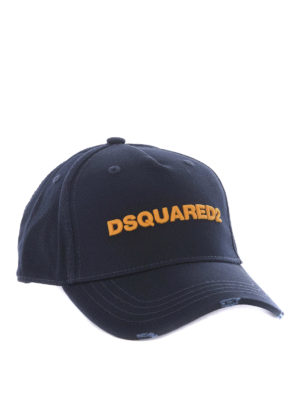 Dsquared2: hats & caps - D2 cotton baseball cap