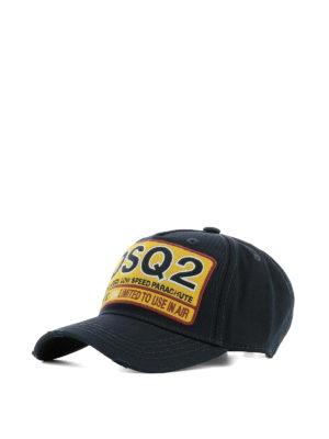 DSQUARED2: cappelli - Cappello da baseball DSQ2 blu