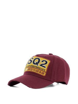 Dsquared2: hats & caps - DSQ2 burgundy baseball cap