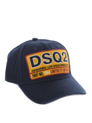 Dsquared2: hats & caps - DSQ2 cotton baseball cap