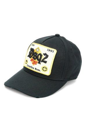 DSQUARED2: cappelli - Cappellino da baseball con patch DSQ2