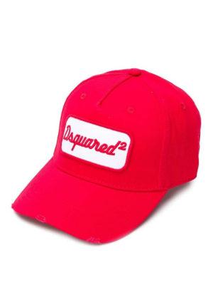 DSQUARED2: cappelli - Cappellino con ricamo Dsquared²