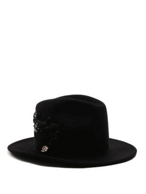 Dsquared2: hats & caps - Embellished cotton hat