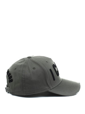 Dsquared2: hats & caps - Icon army green baseball cap