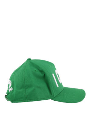 DSQUARED2: hats & caps - Icon embroidery green baseball cap