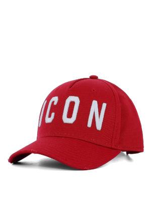 DSQUARED2: cappelli - Cappello da baseball Icon rosso