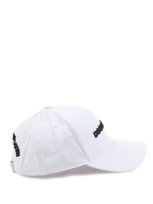 Dsquared2: hats & caps - Logo embroidery white baseball cap
